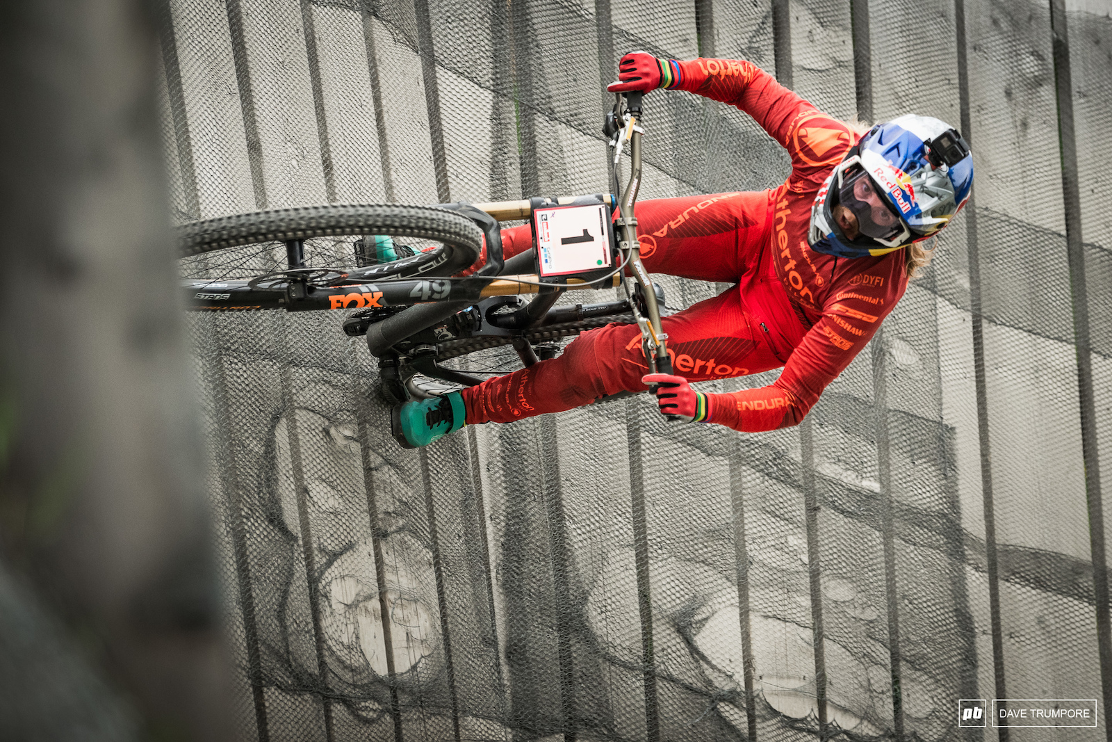 2nd today for series leader Rachel Atherton