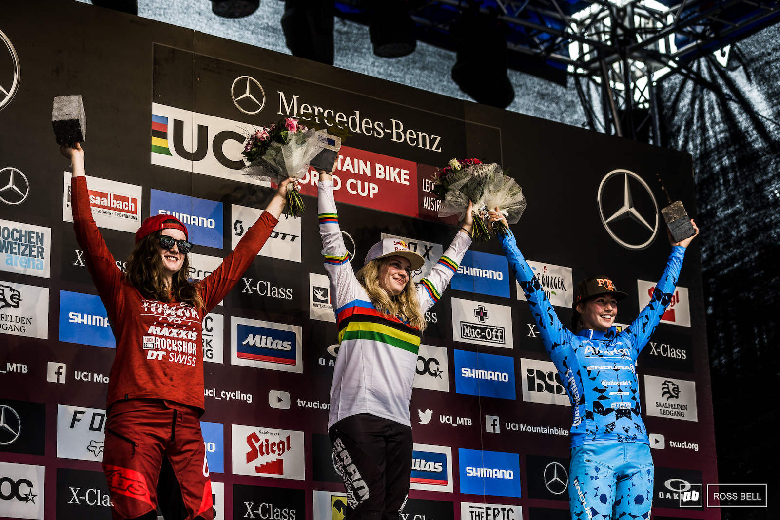 Your top 3 Junior Women. 1st Vali Holl 2nd Anna Newkirk 3rd Mille Johnset
