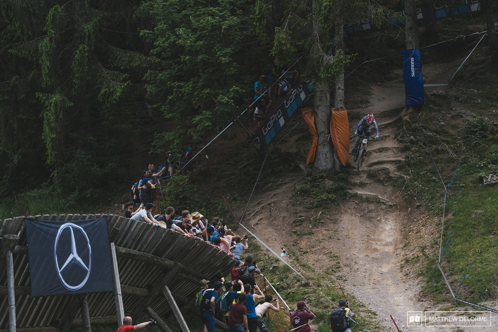 Greg Minnaar almost had it. At 38 years old his riding is as impressive as ever. Second place today.