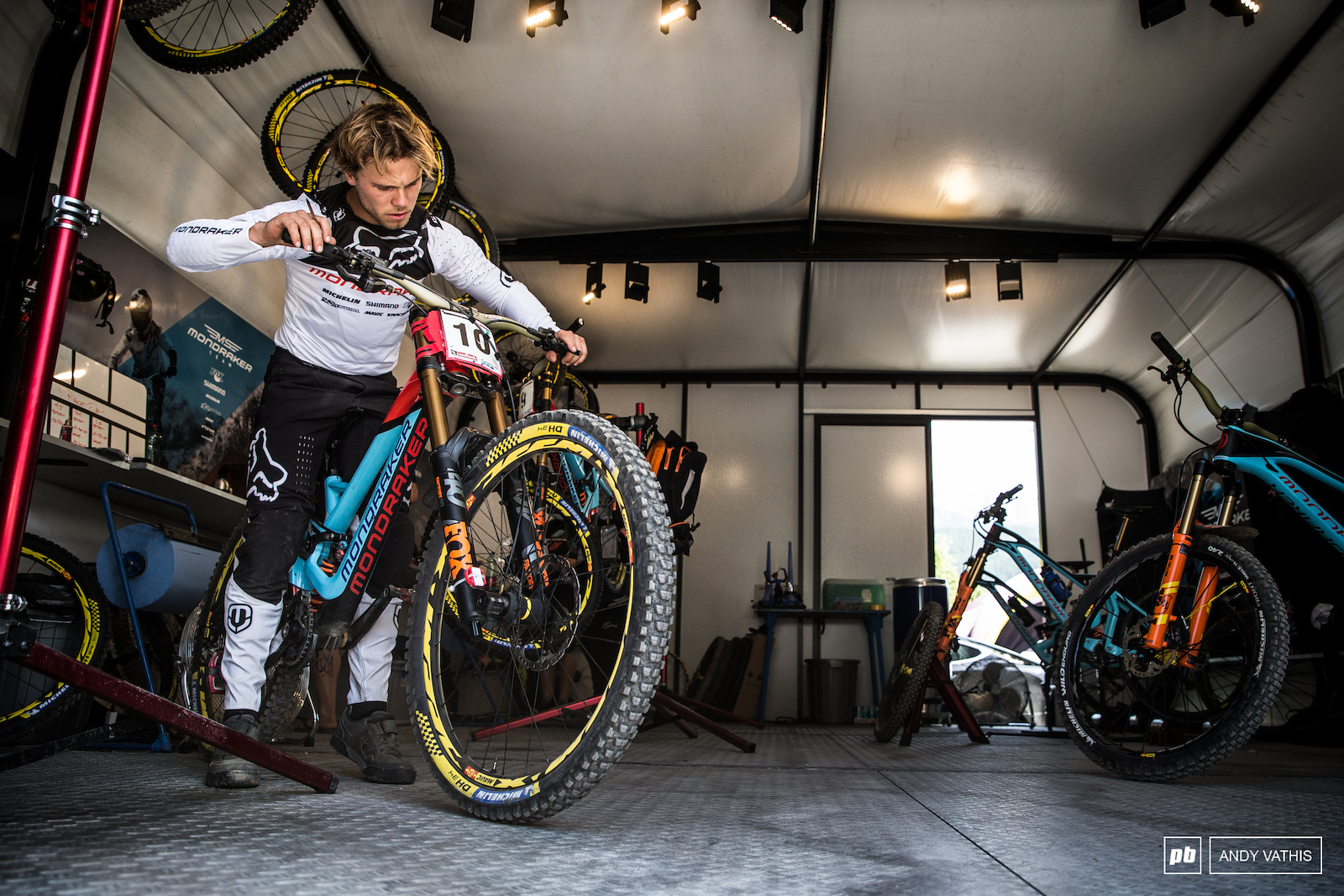 Laurie Greenland putting in the final touches on his race rig. Unfortunately no amount of fine tuning can prevent an untimely crash.