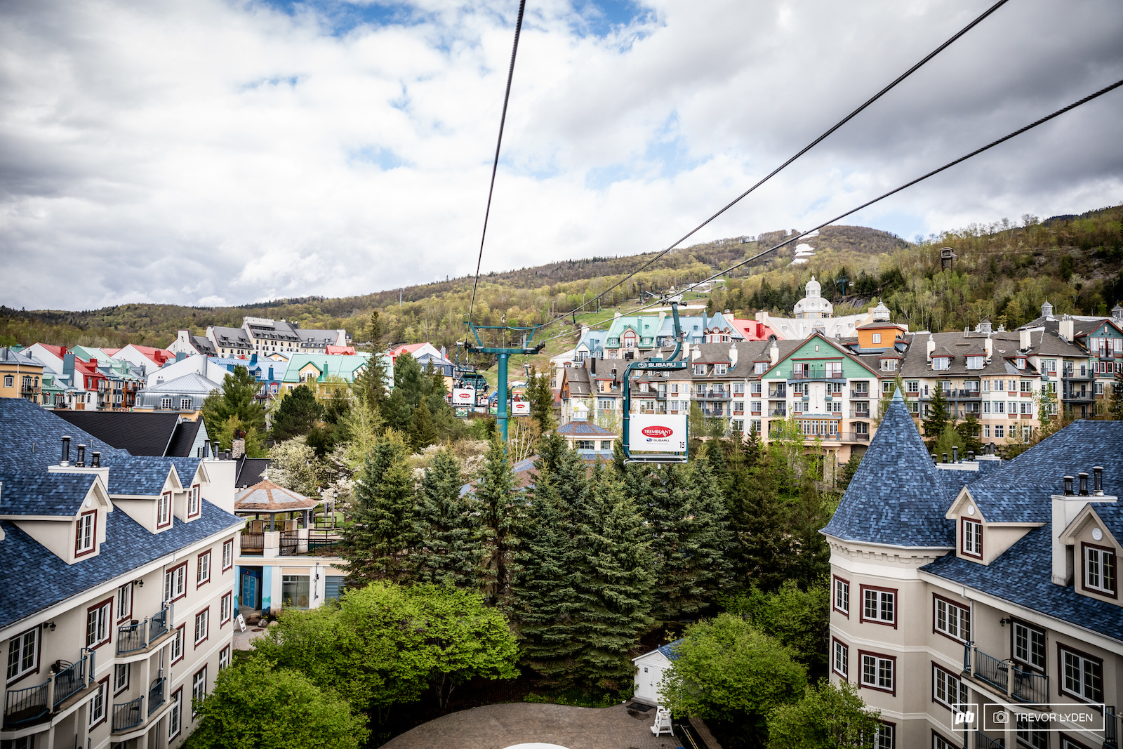 The free of charge Tremblant tram is a great way to get a birds eye view of the village.