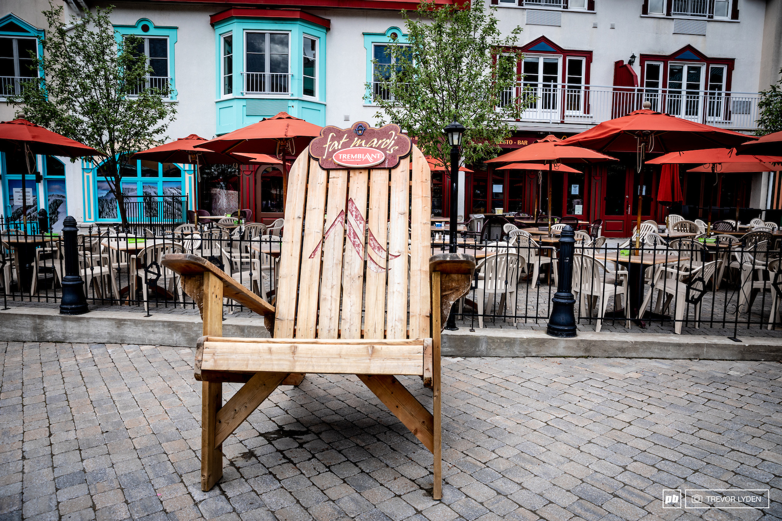 Big chair in a little town.