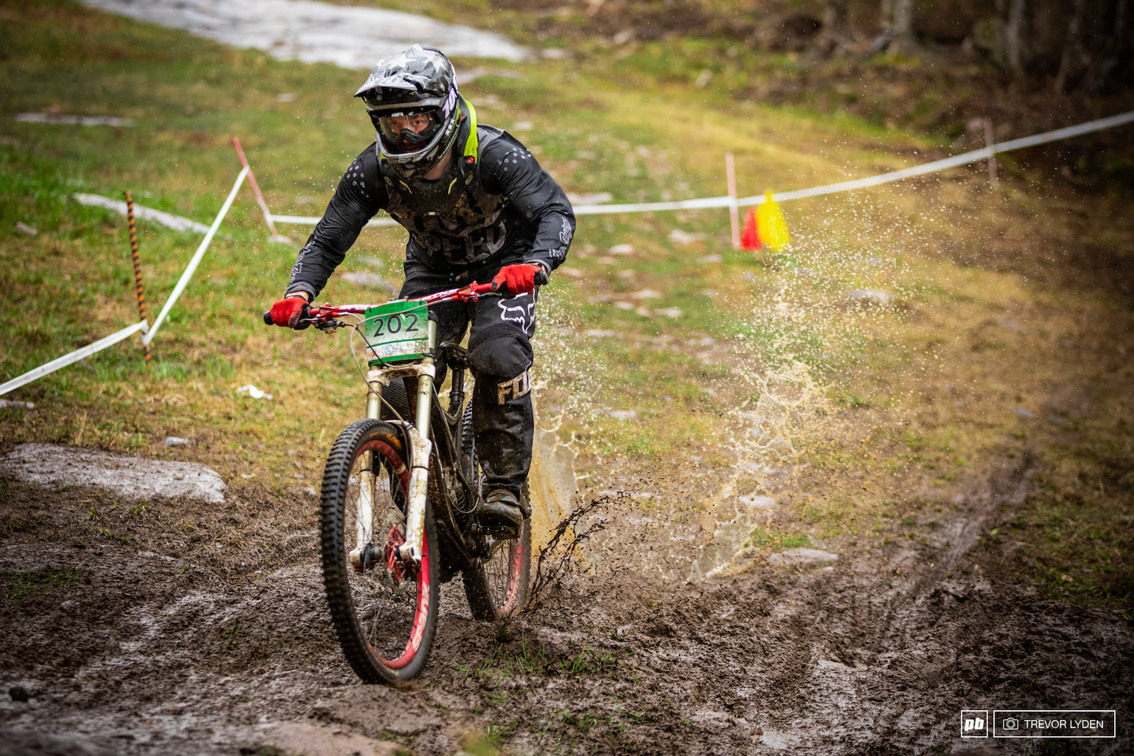 Conditions were muddy for the Crossroads event.
