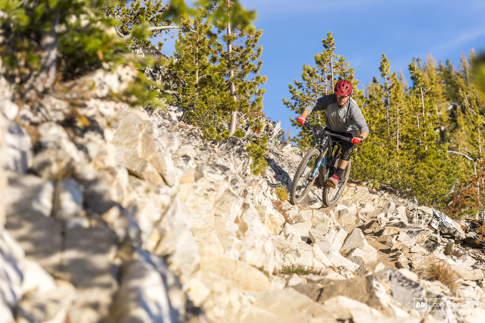 Riding the trails that surround Lakecreek Drainage in the Entiat Mountains near Lake Chelan WA. imagery is model released
