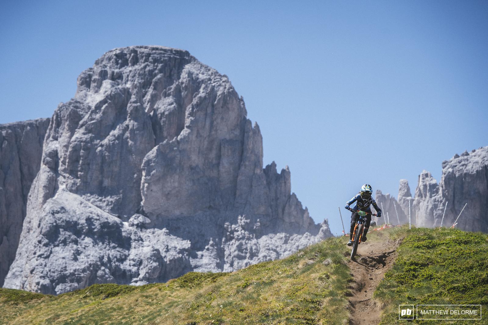 Noga Korem notches the peaks of the Dolomites.