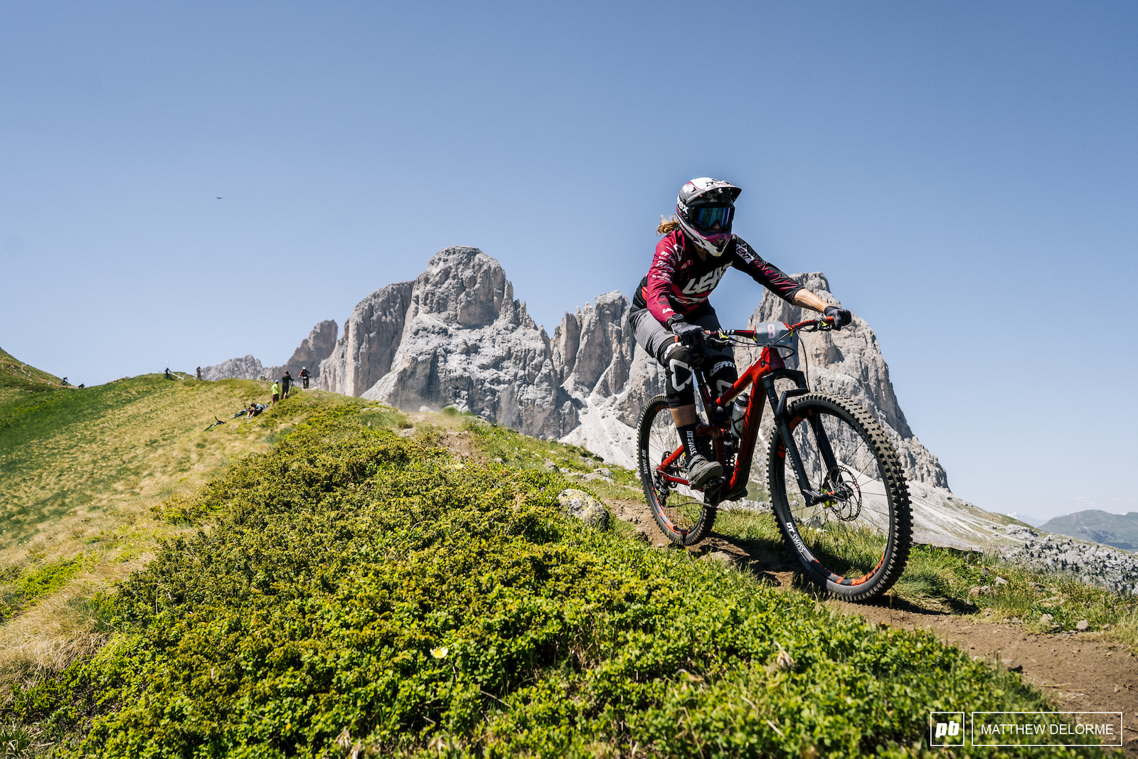 Caro Gehrig finding speed on the alpine of stage one.