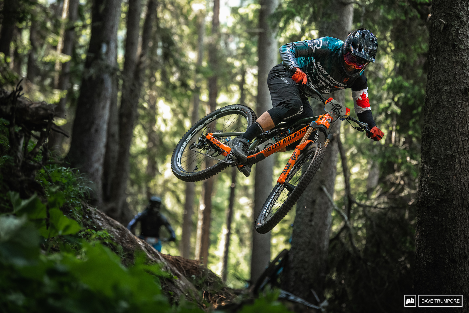 Remi Gauvn sending some big steep gaps in the woods on Stage 3.