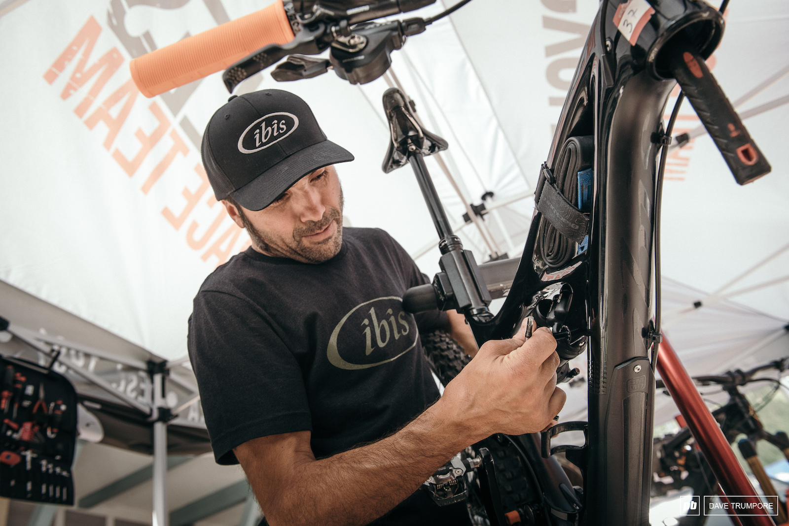 Lot s of bike prep going on as riders have had over a month off to ride and train without the regular maintenance they receive from mechanics on a race weekend.