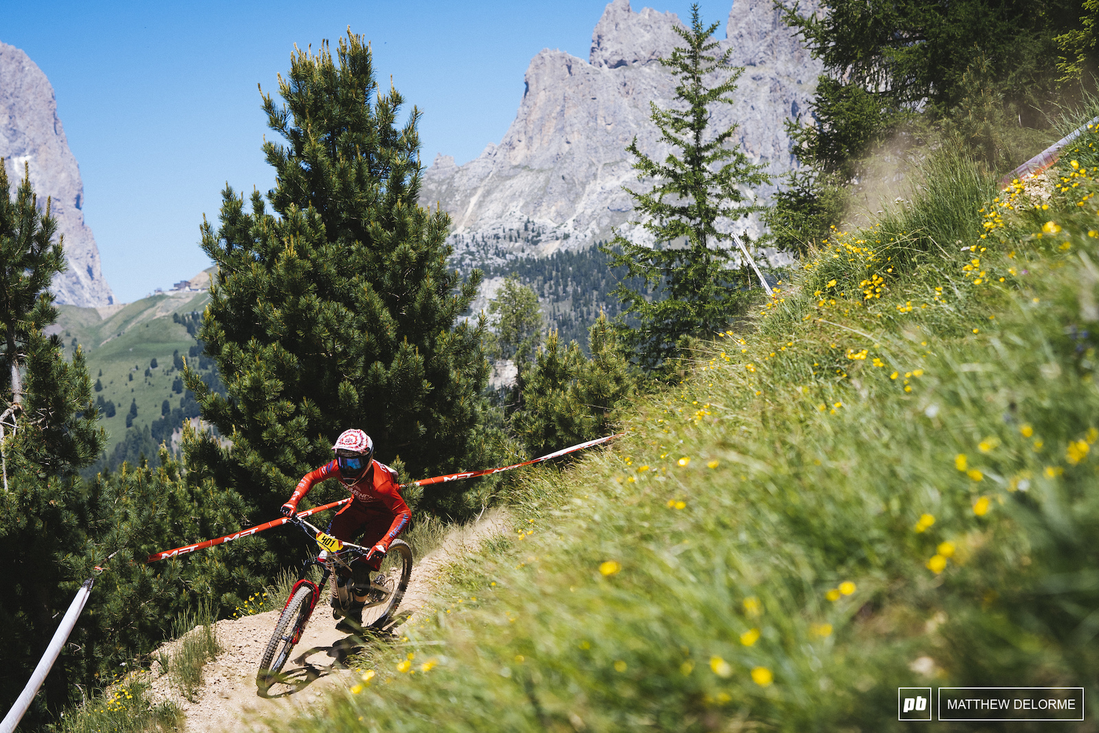 Antoine Vidal on his way to another win in Val di Fassa.