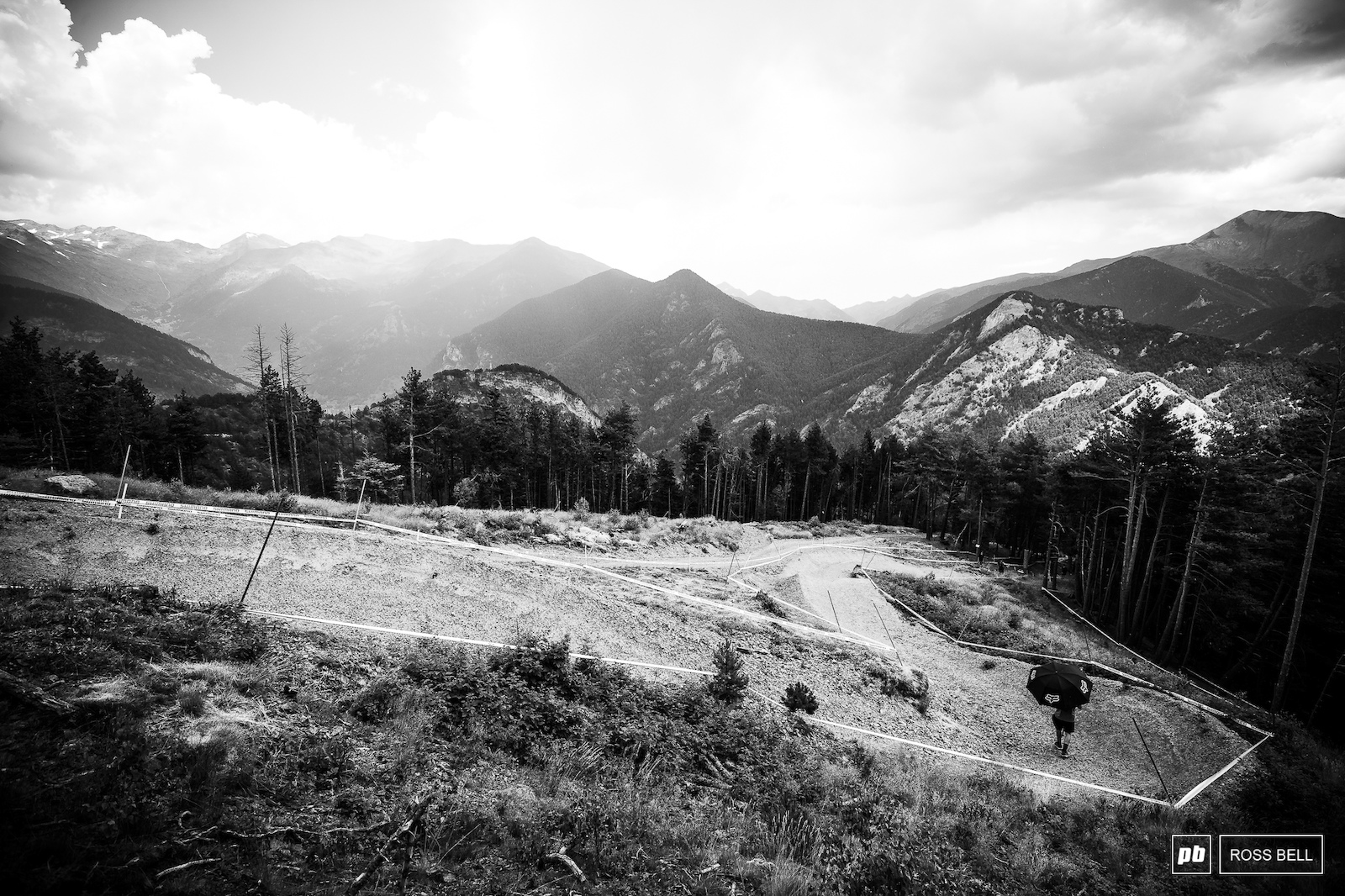 These pristine berms are about to get ripped to pieces.