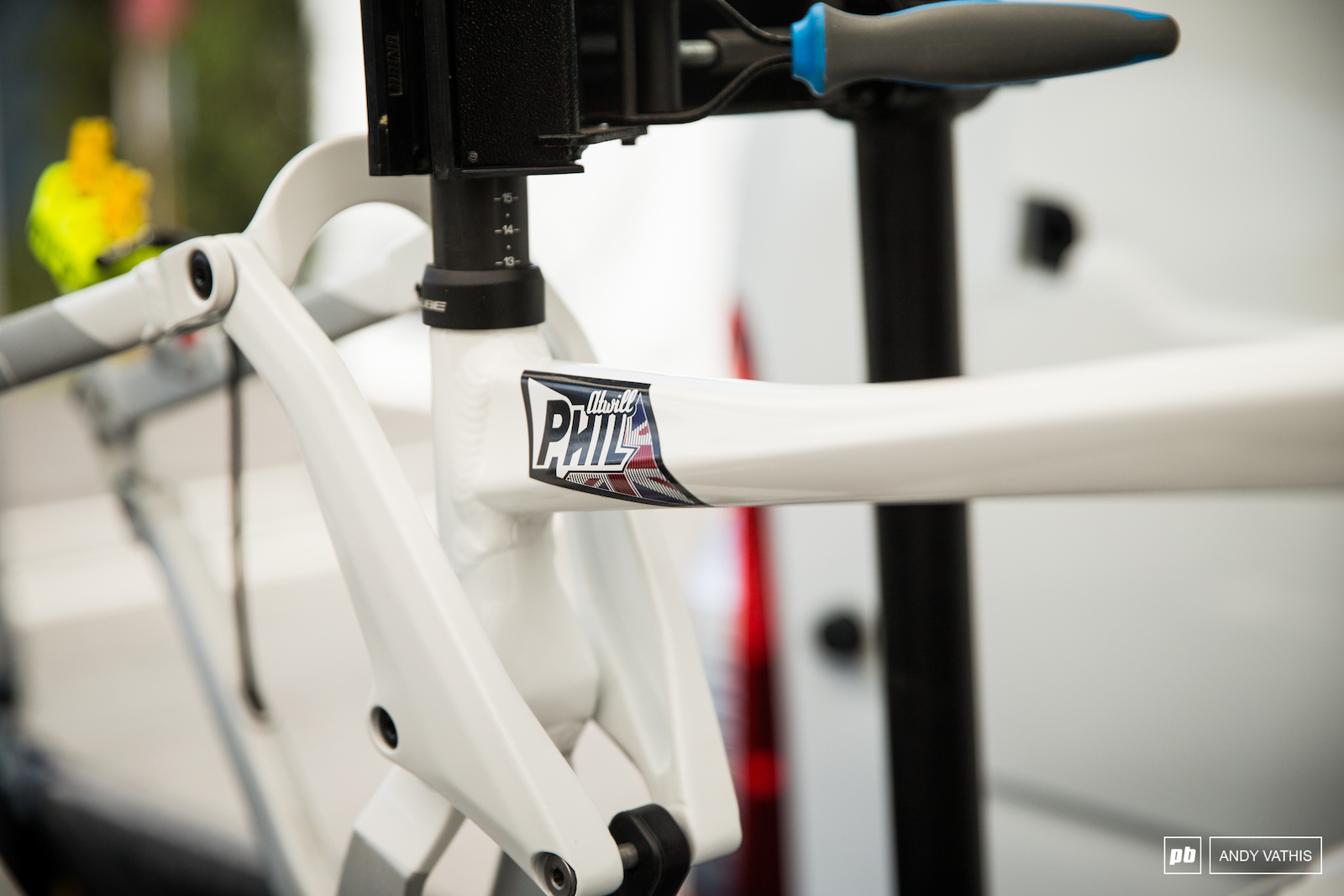 Phil Atwill has got himself a fresh paint job for his Cube Two15.
