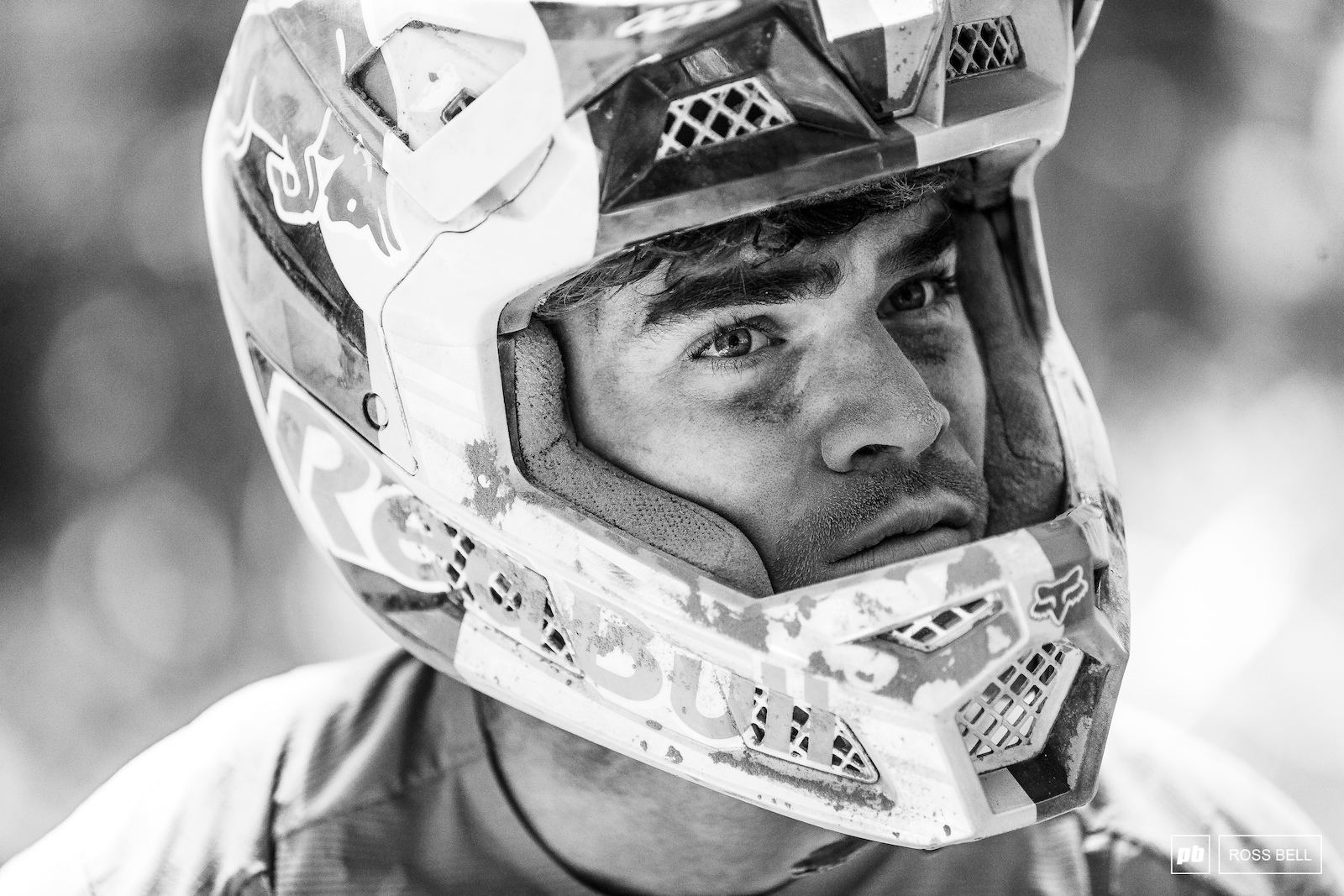 Loic Bruni was so badly coated head to toe in dust after his crash that he had to go back to his hotel and shower.