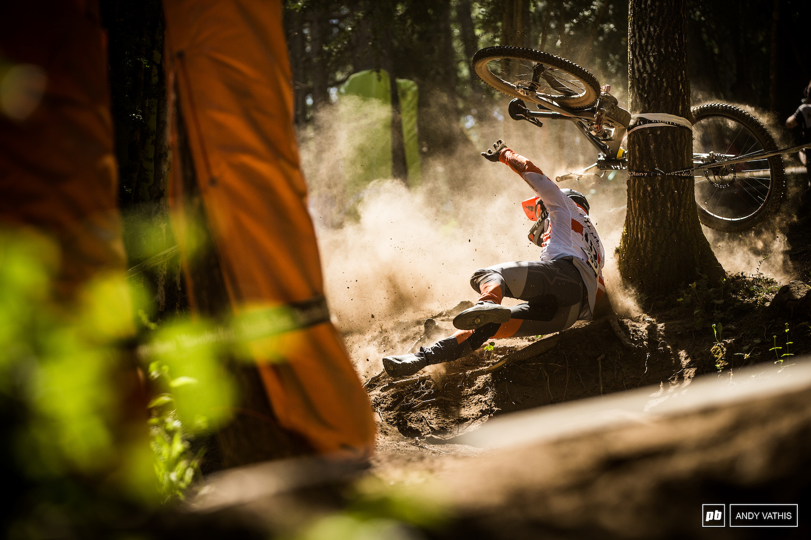 Scary moment for Mick Hannah after a costly mistake in the lower steeps.