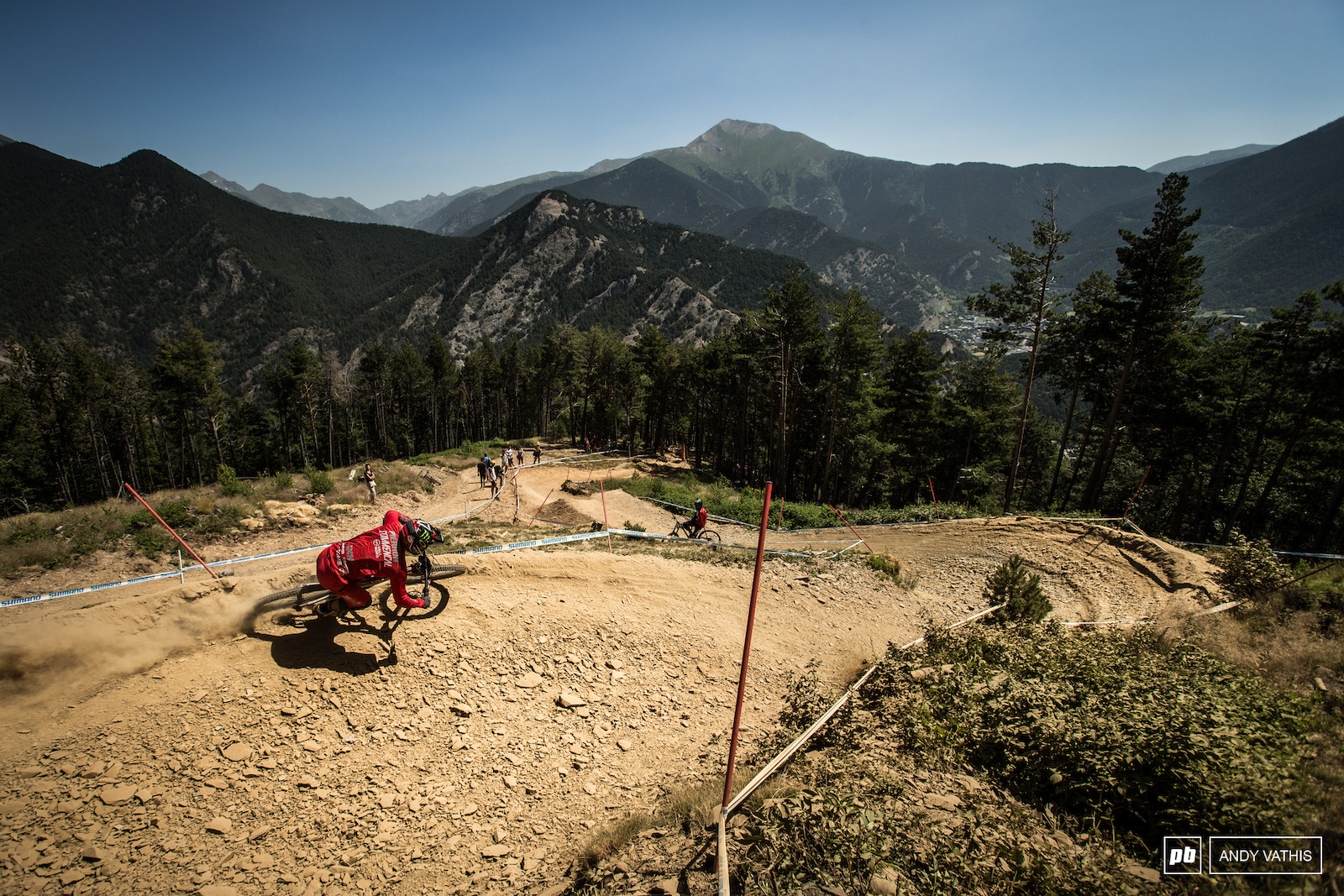Amaury Pierron navigating the first of the loose open sections. He qualified third today but that s three seconds and change off the pace.