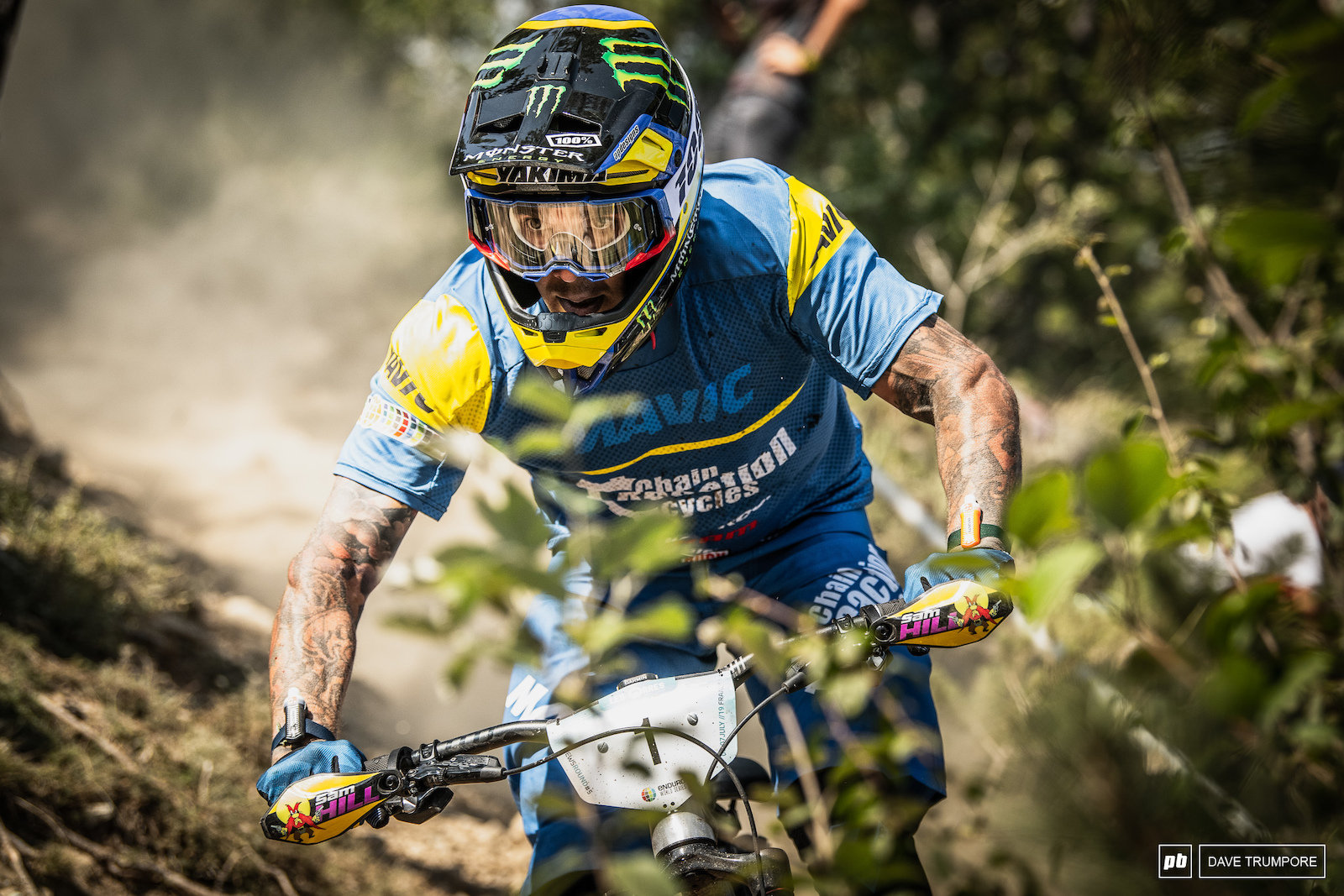 Sam Hill chasing hard and on a mission to claw back time. He ended the day in 38th
