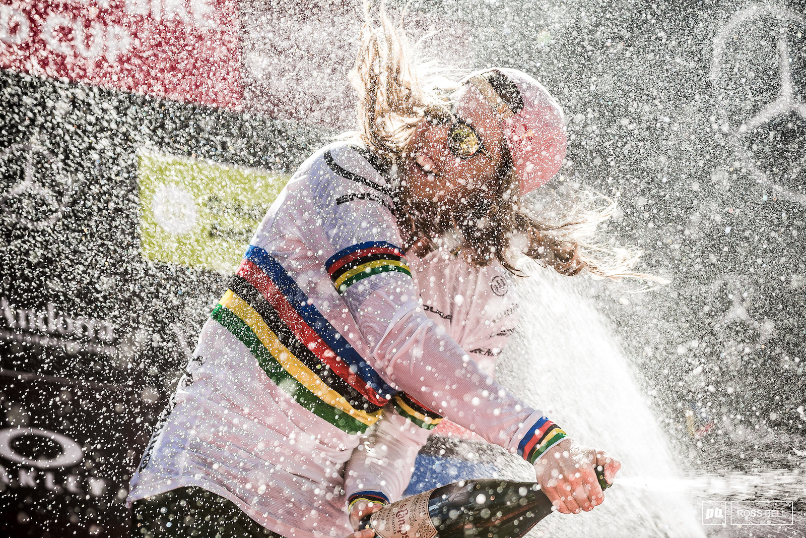 Victory tastes sweet for Rachel Atherton.