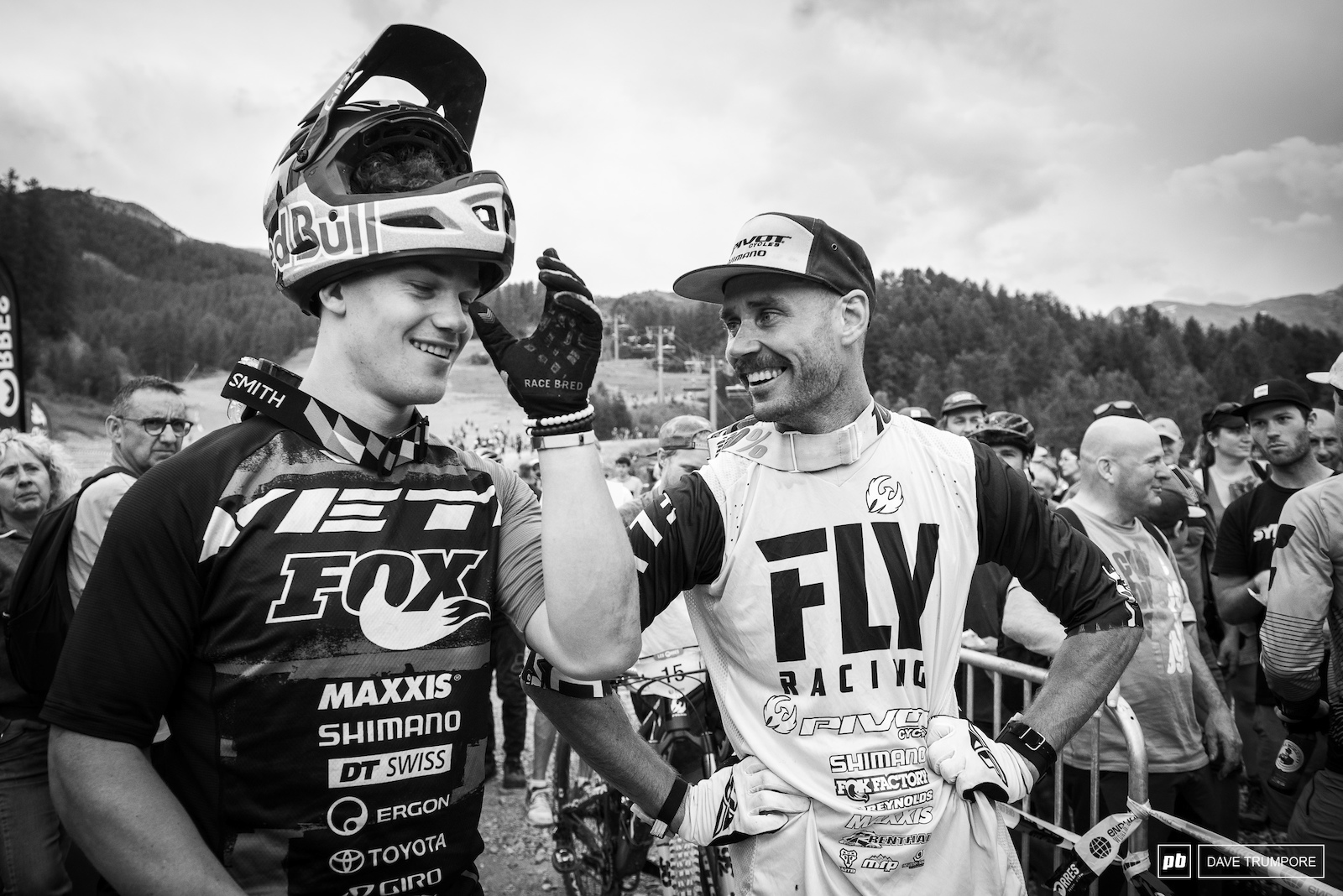 All smiles from two men who just gave us one of the most exciting two days of EWS racing ever.