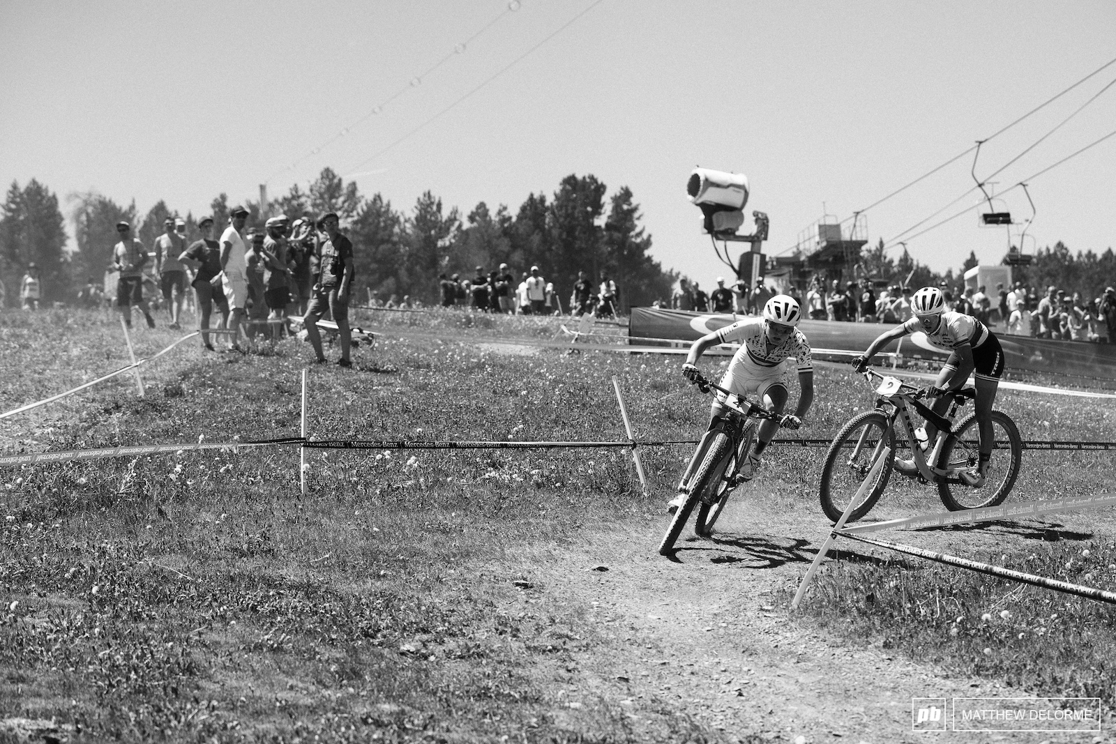 Terpstra and Neff battle it out on the final lap.