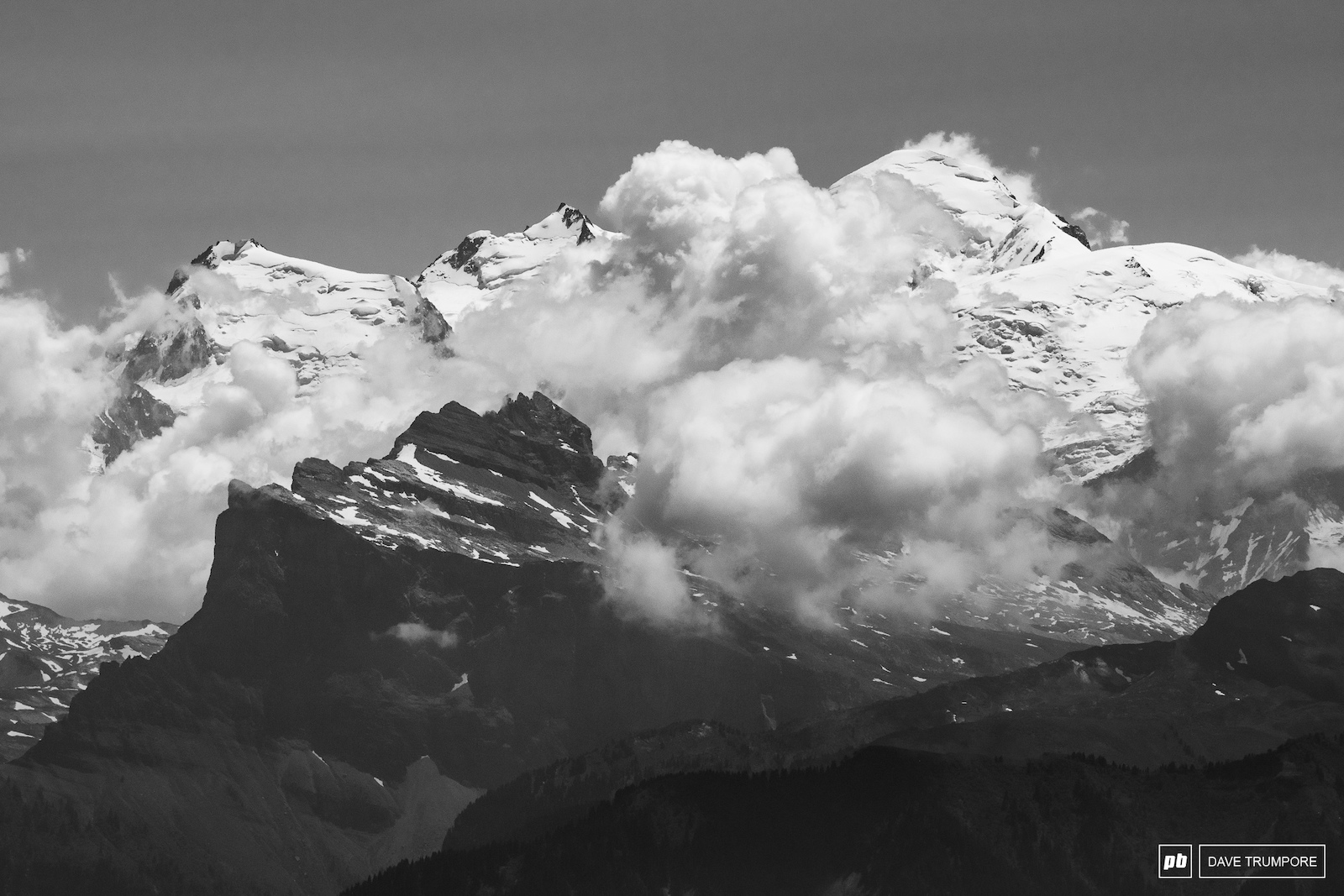Mont Blanc making an appearance off in the distance