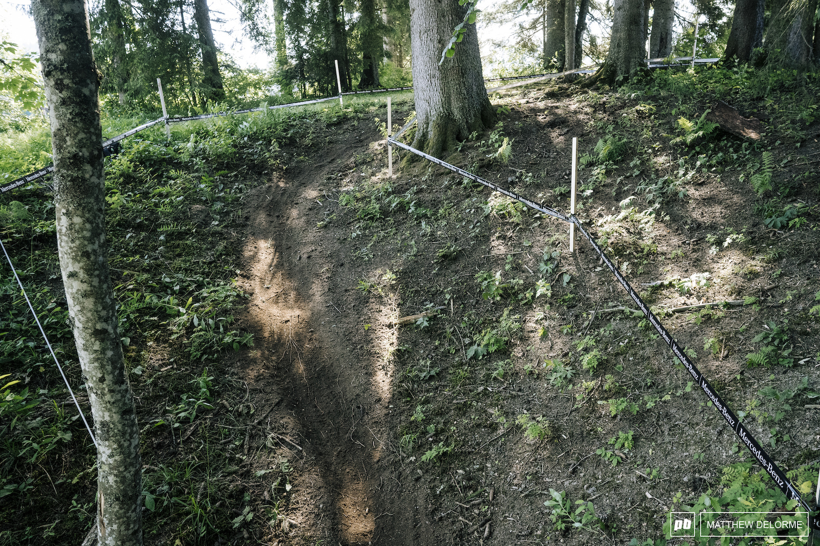 Perhaps the best part of the course is a few quick single track s turns that are simply beautiful.