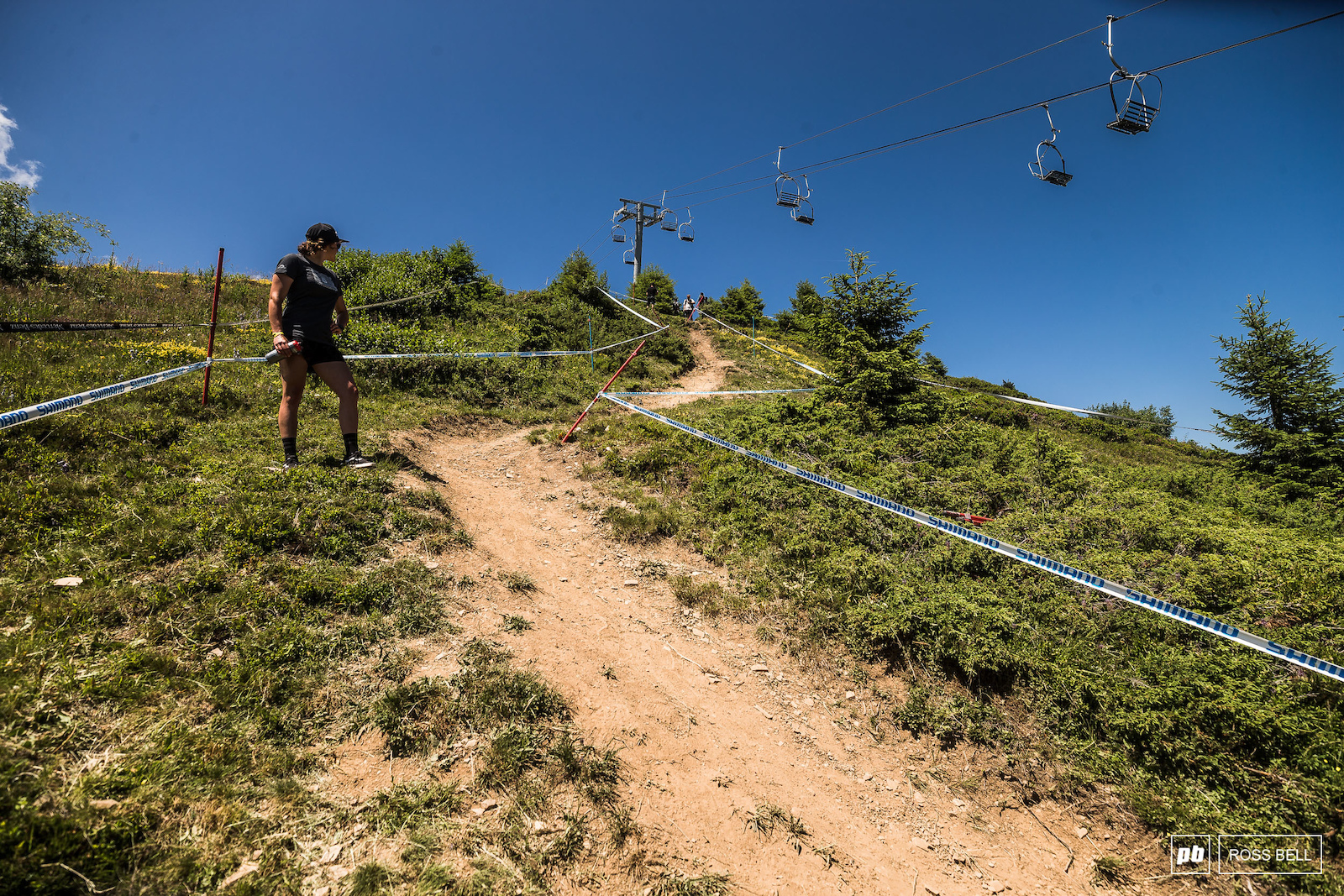 The majority of the track is the same route that the Crankworx DH followed.