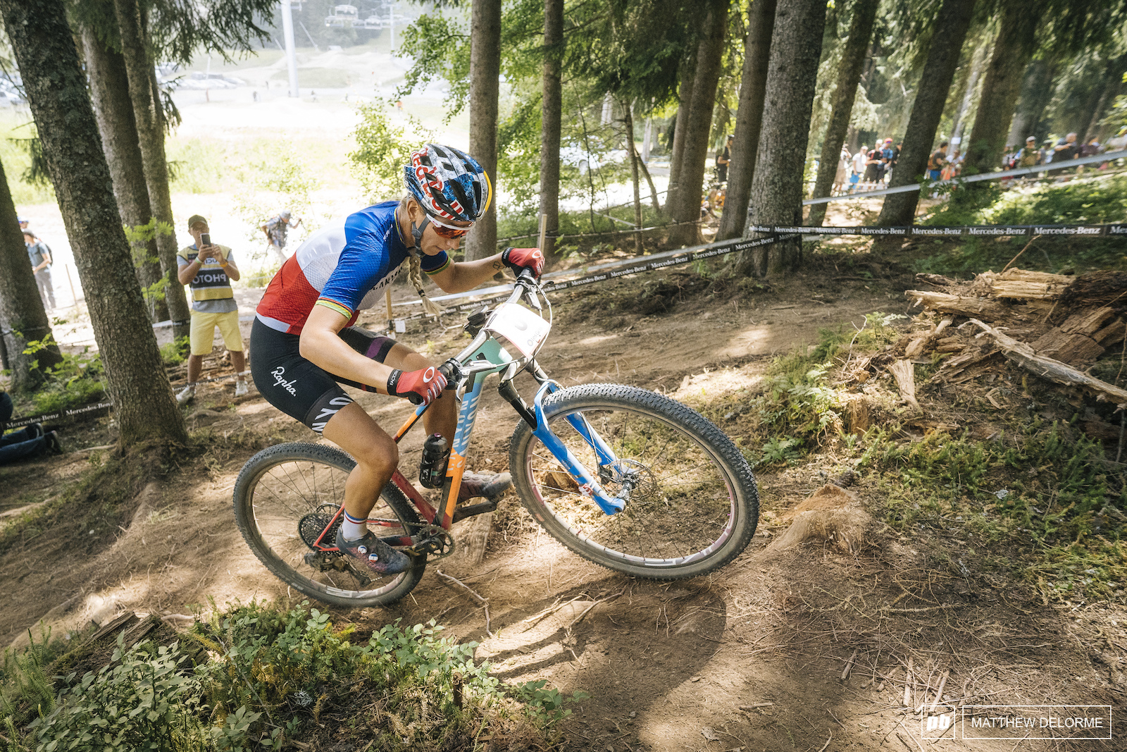 Pauline Ferrand Prevot landed a fifth place on home soil.