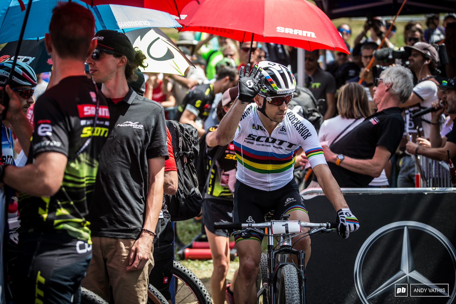 Nino Schurter definitely has the endurance for this course but as we seen so far this season so do a few others on the front line.