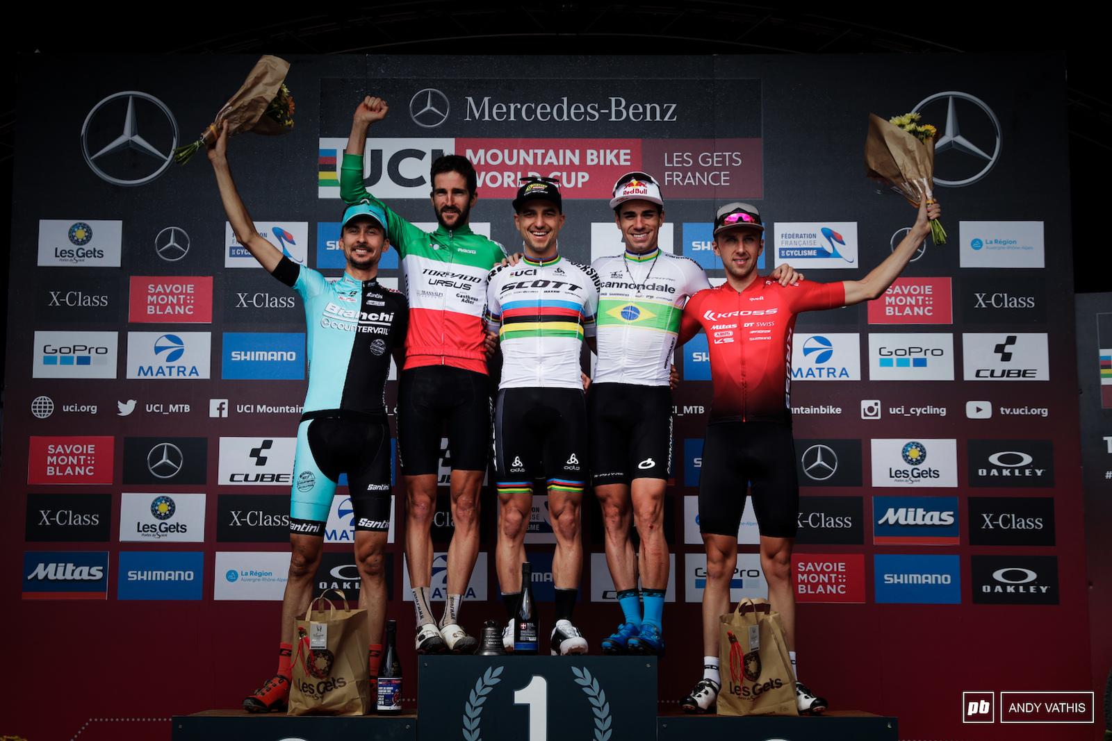 Men s Elite podium.