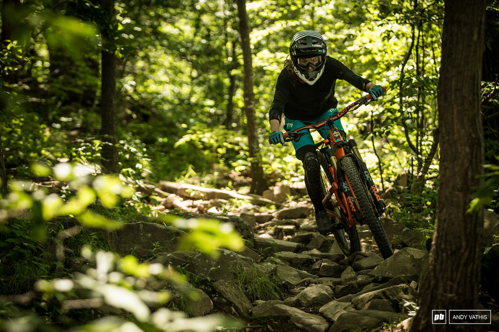 Laura Slavin on The Jack a mellow rocky trail.