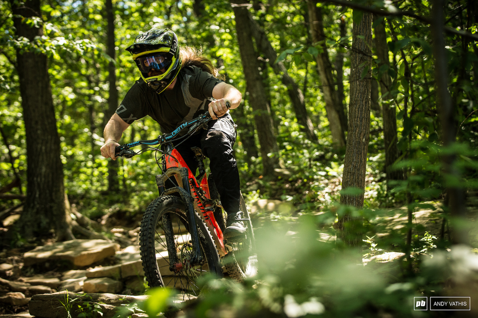 Jeff Anderson is one of the main trail crew at Mountain Creek.
