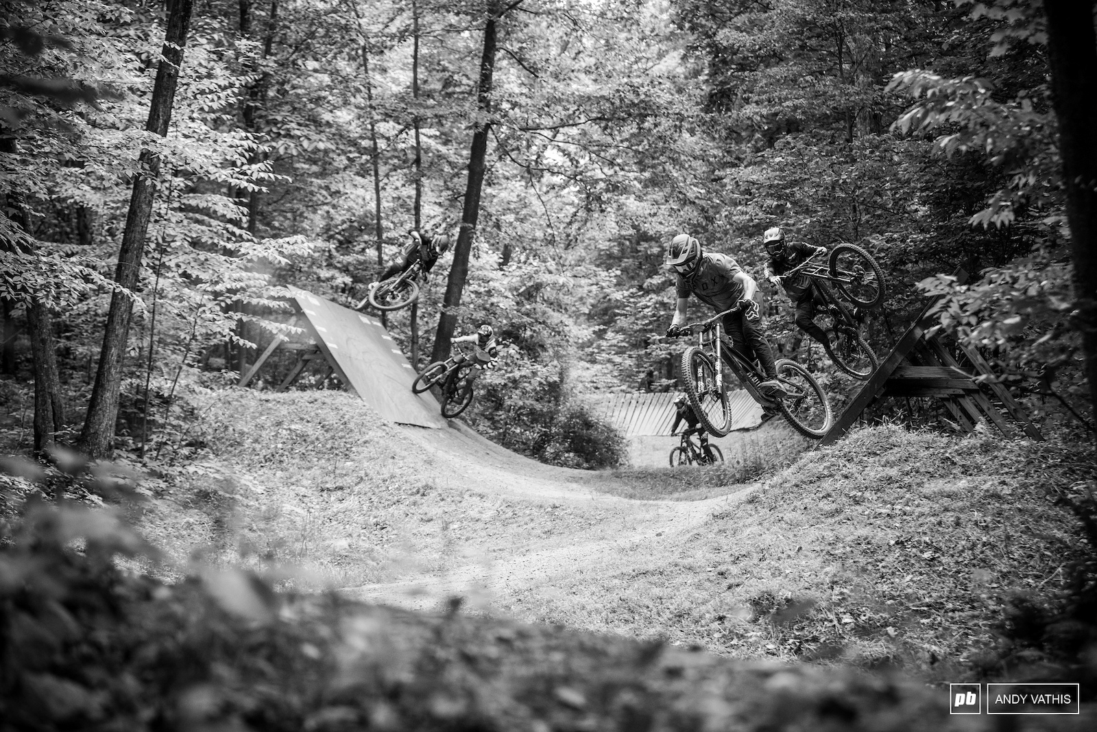 No shortage of party laps on the flow trails. The progression flow trails offer tonnes of space between features to really get comfortable on each hit.