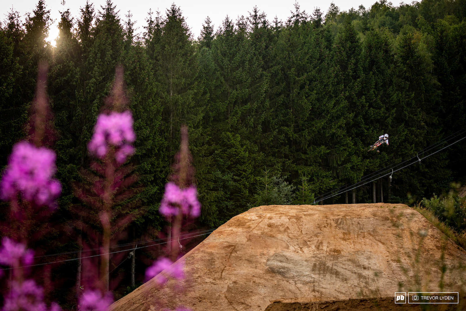 Damon Iwanaga boosting in the late evening.