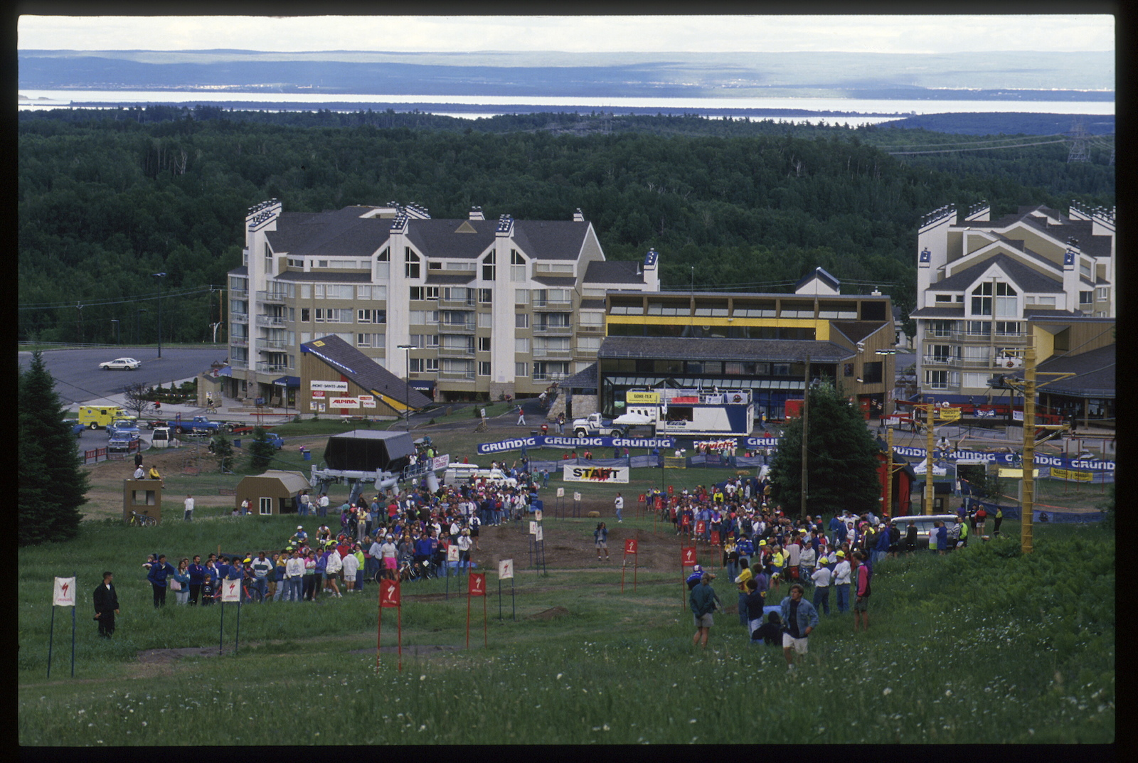 First UCI event at Mont-Sainte-Anne, 1991