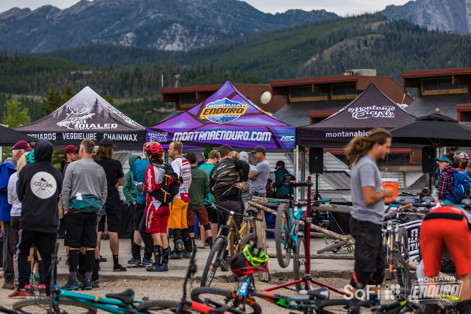 Busy morning at the base with check-ins and final bike inspections. The 2019 course featured more climbing and took racers on a tour of the whole mountain. This year s course featured 6 stages with 6000 of climbing and 7700 of descending. Not for the faint of heart.