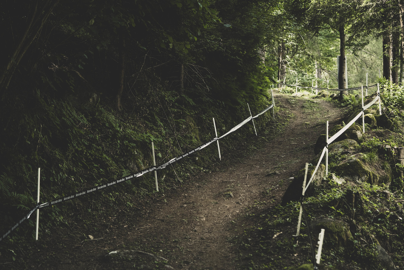 The double track climbs offer passing opportunities for those who still have the legs for it.