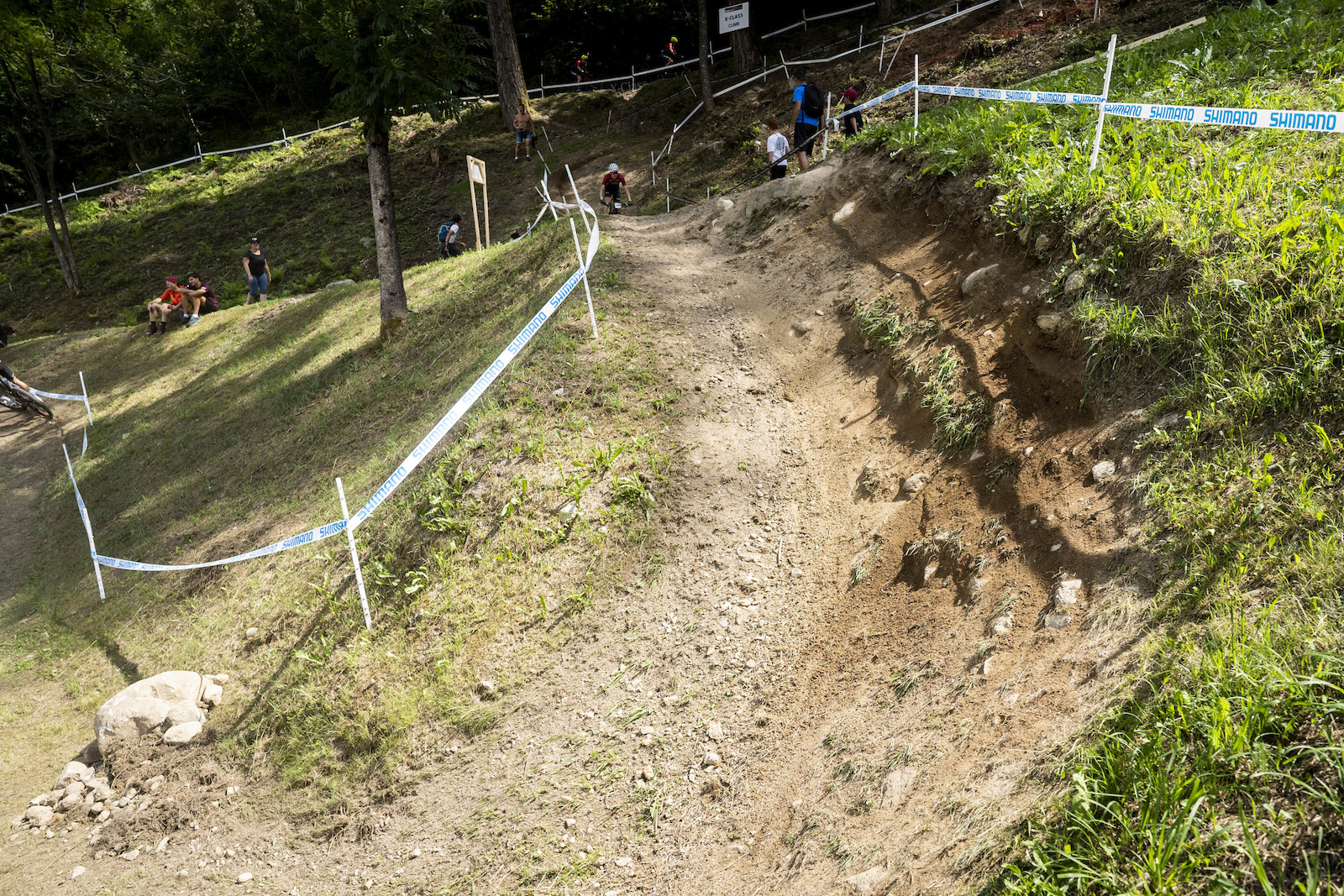 There is plenty of bike park flow berms and drops out in the open.