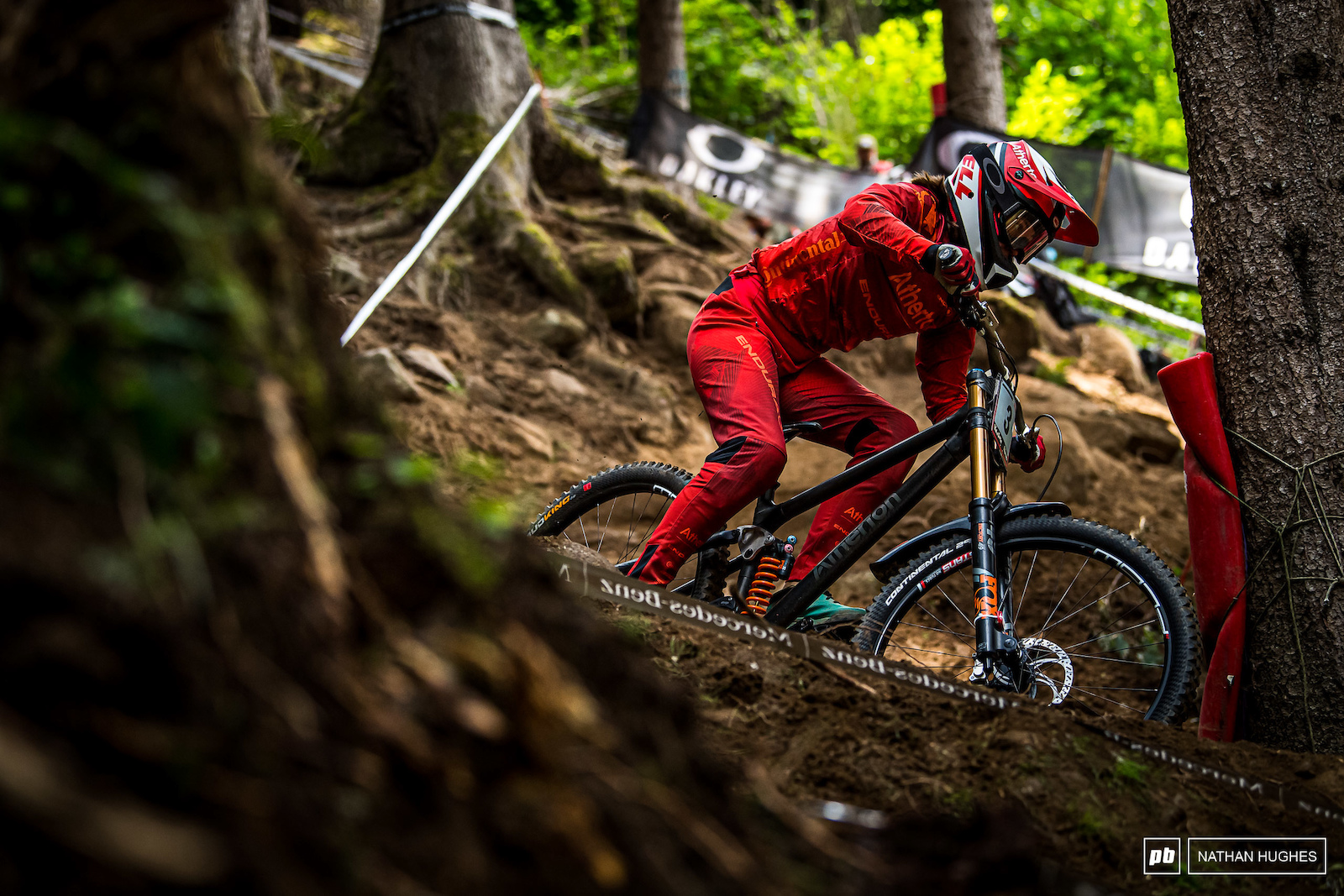 Mille Johnset kept it rubber side down on the gnarly course for 2nd place in junior women.