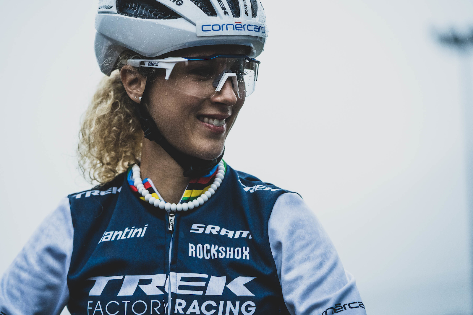 Jolanda Neff was all smiles as usual at the start.