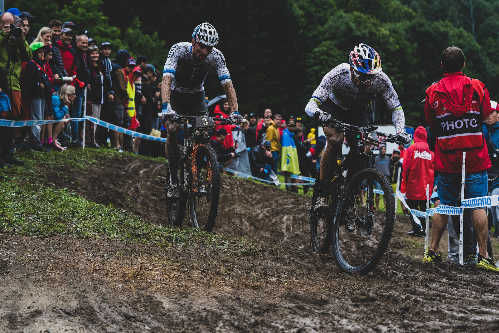 Henrique Avancini did a stint at the front but van der Poel looked like he was soft pedaling behind him.