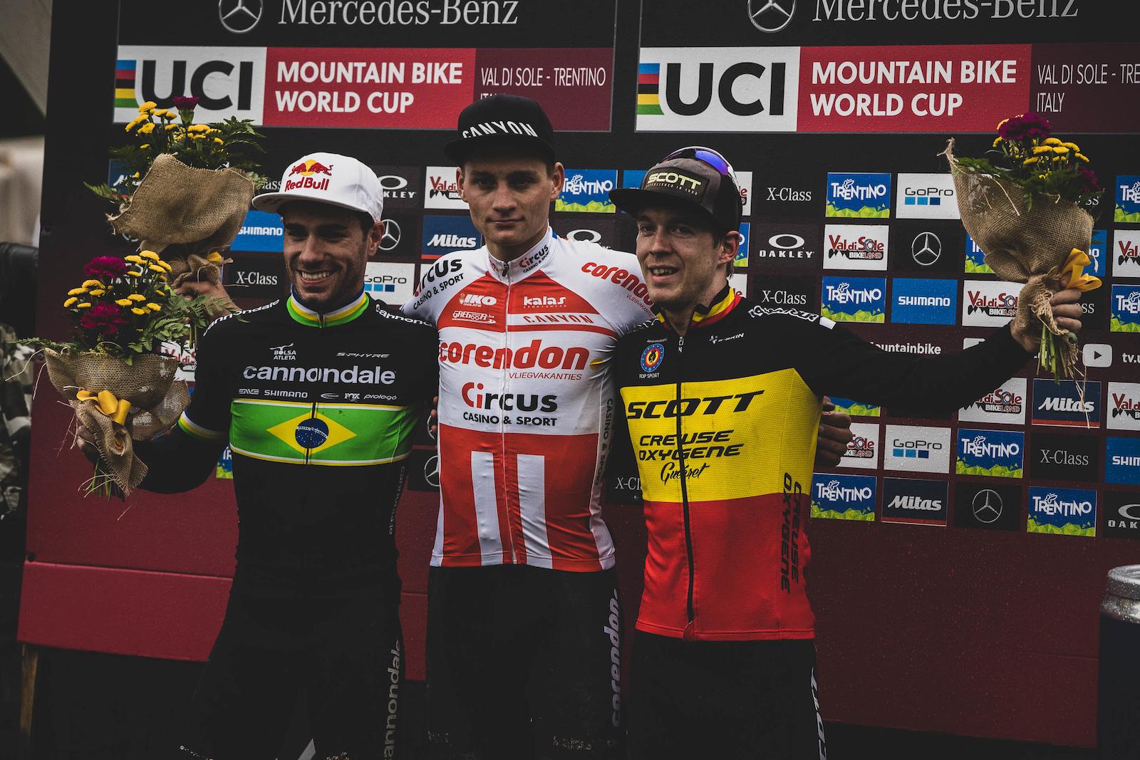 Mathieu van der Poel Henrique Avancini and Jens Schuermans your STXC men winners.