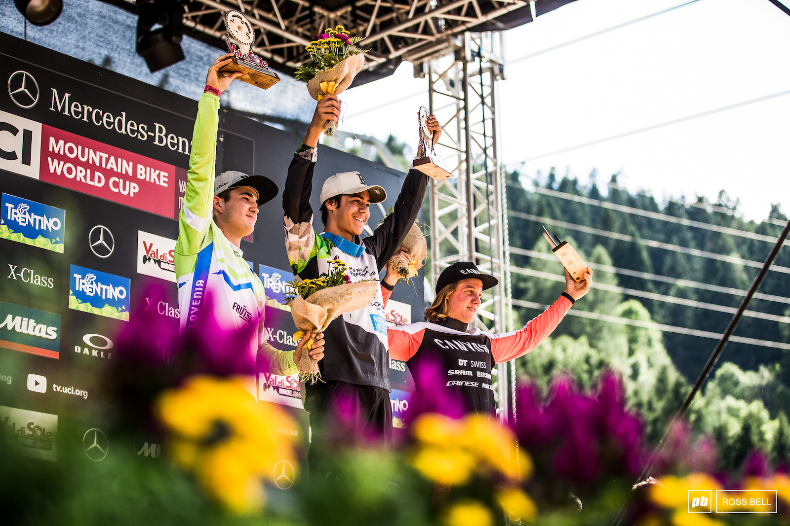 Your top 3 junior men in Val di Sole 1st Tuhoto-Ariki Pene 2nd Zak Gomilscek 3rd Kye A Hern