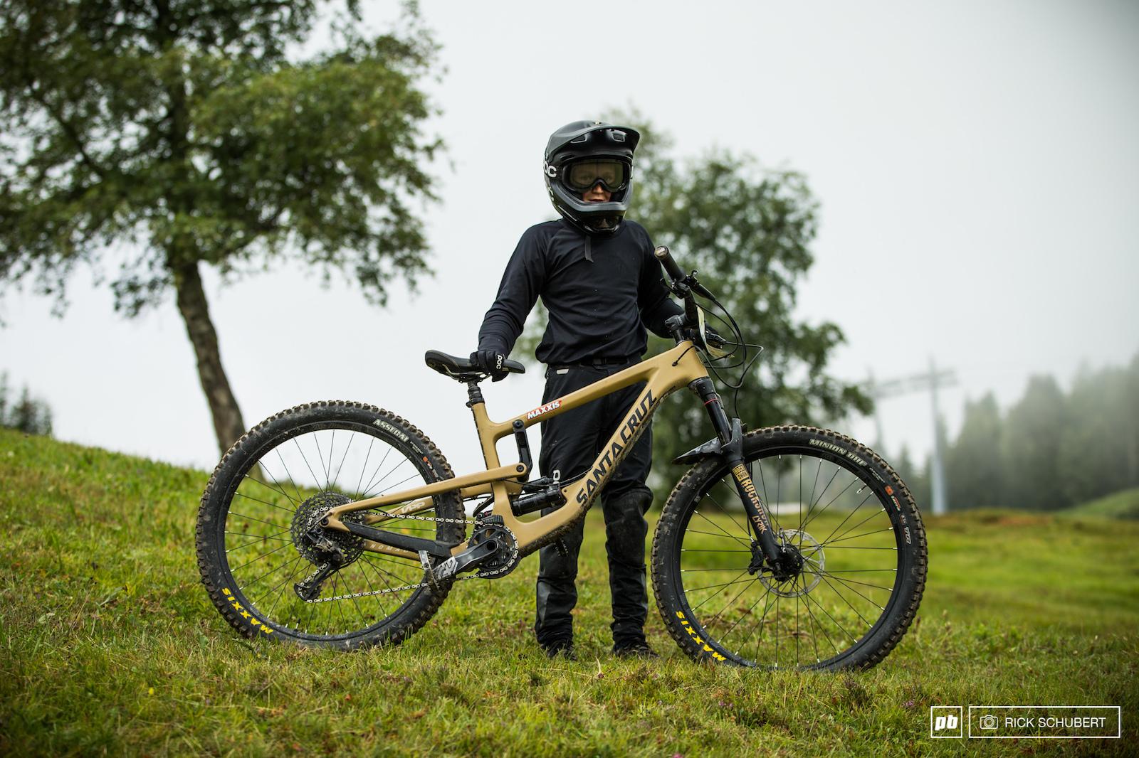 12 year-old Gregor Brandauer and his Santa Cruz