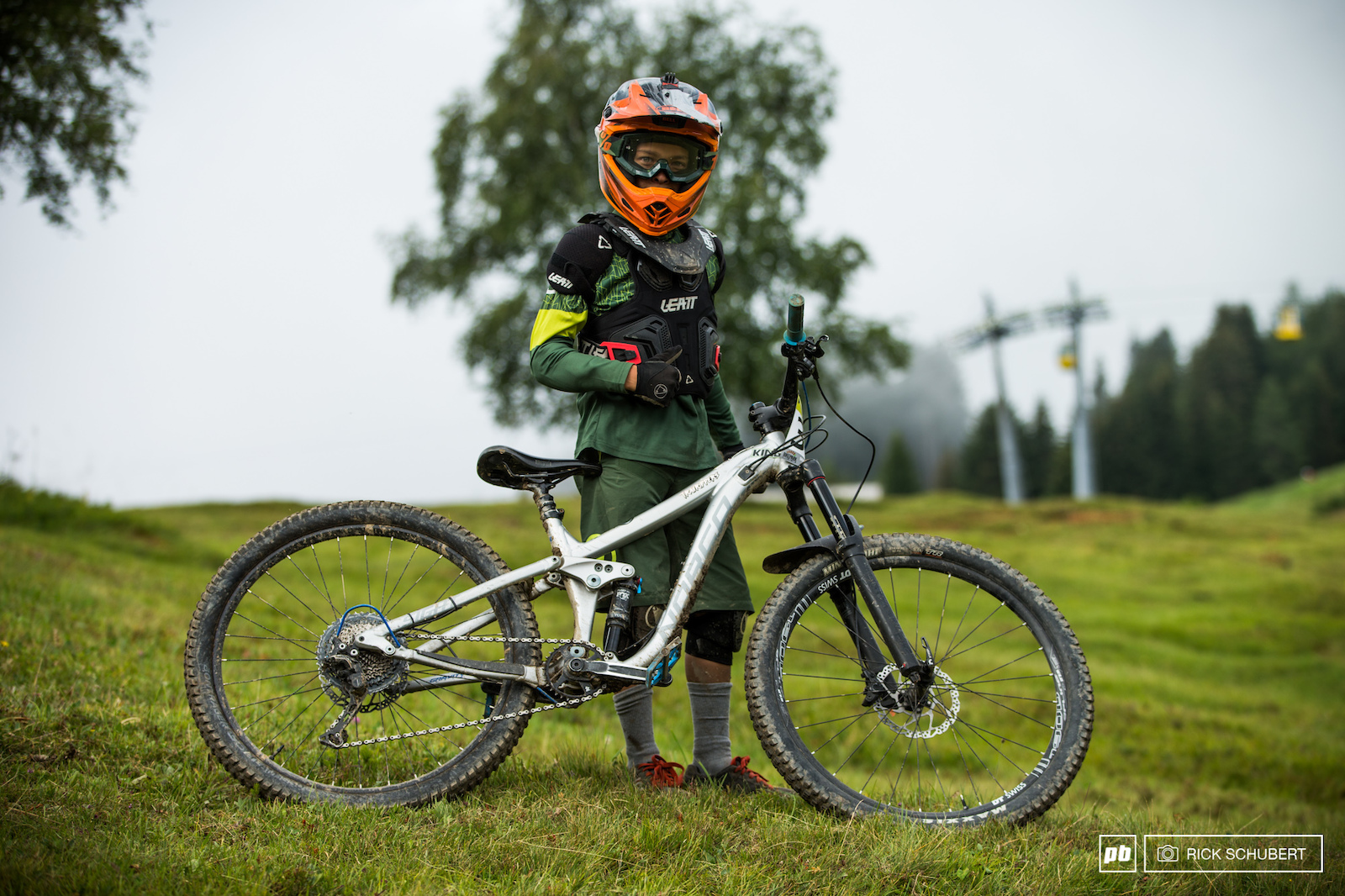 Nathan Devaux is just 11 years old and ripping the downhill track