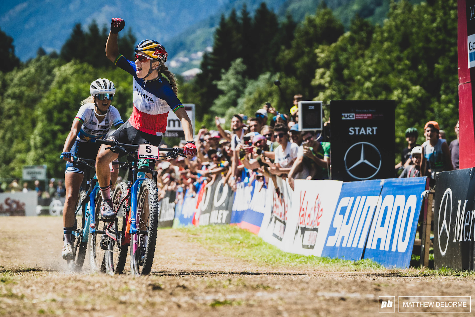 Pauline Ferrand Prevot had an incredible ride and took a well deserved win.
