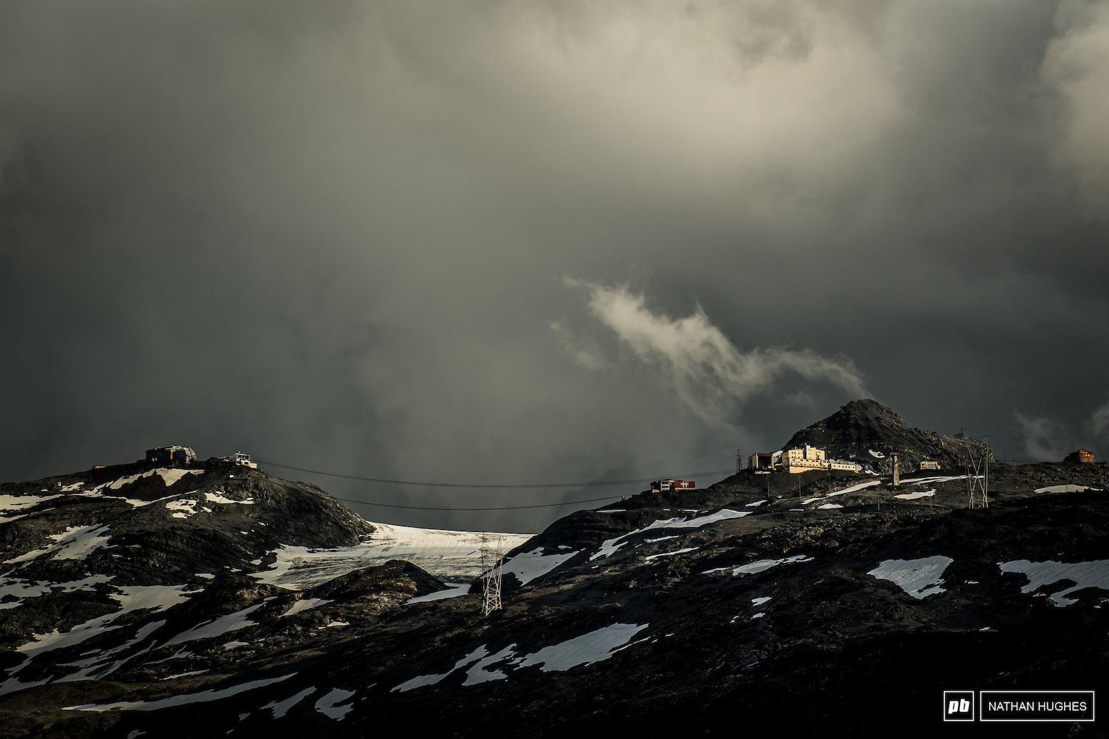 Whisps at the 3000m ski resort of Stilfserjoch.