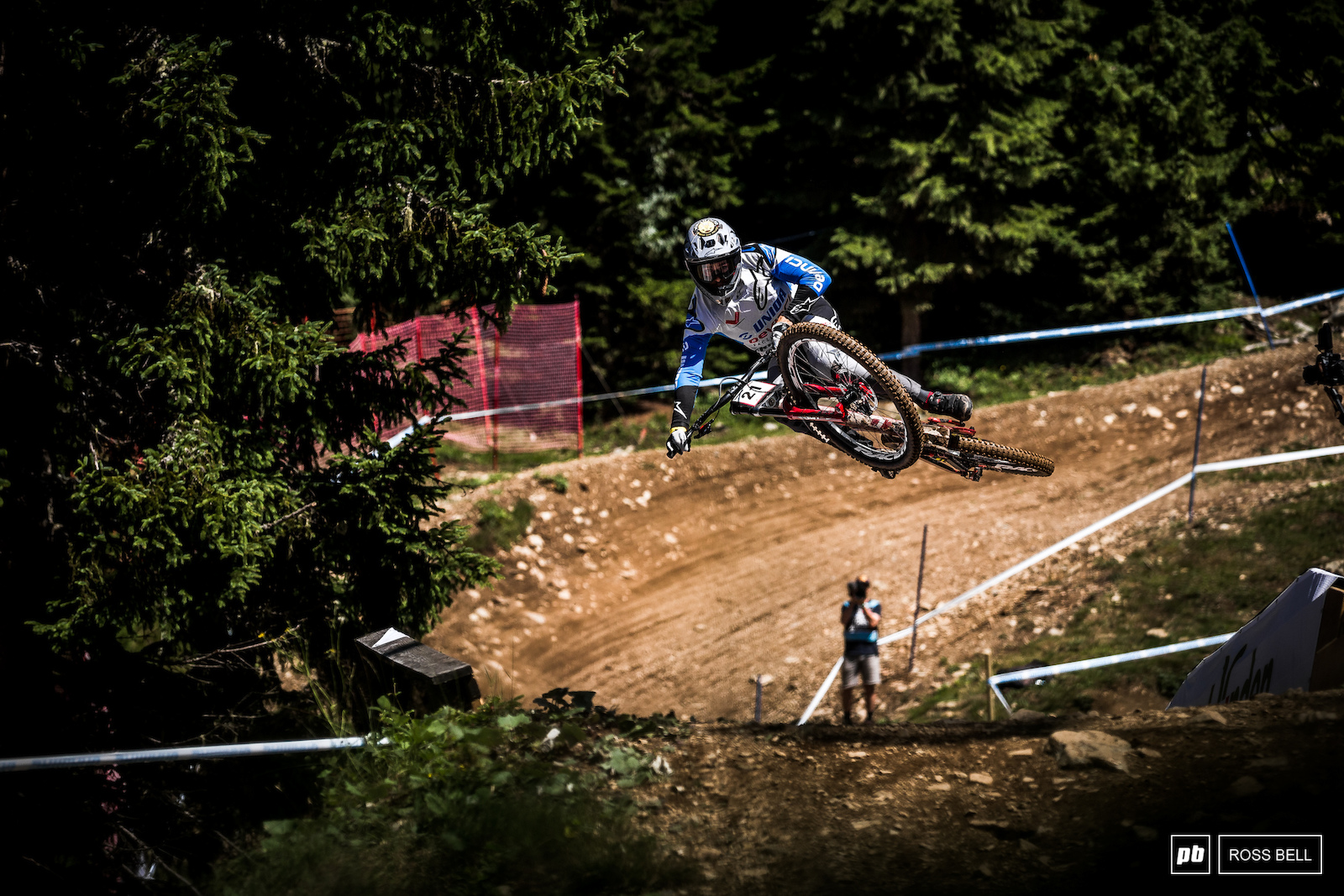 Dakotah Norton looks to have good track speed here in Lenzerheide.