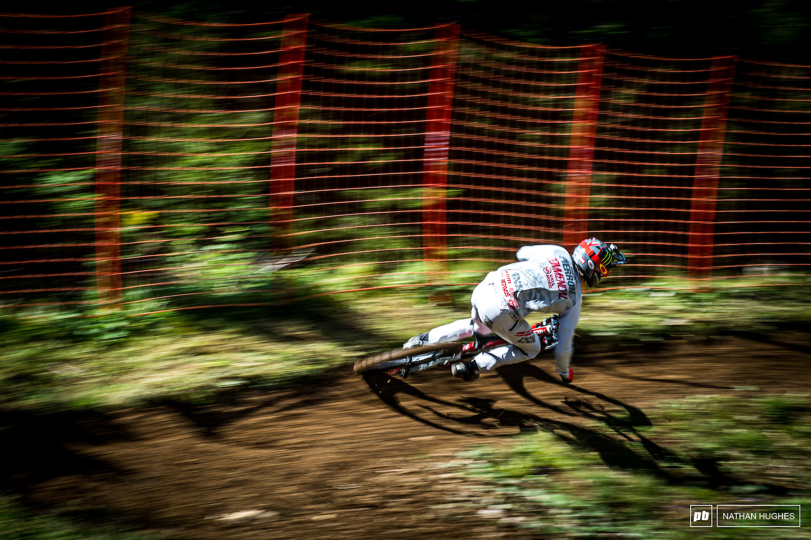 Pierron hitting warp on lap 1 of his Lenzerheide visit.