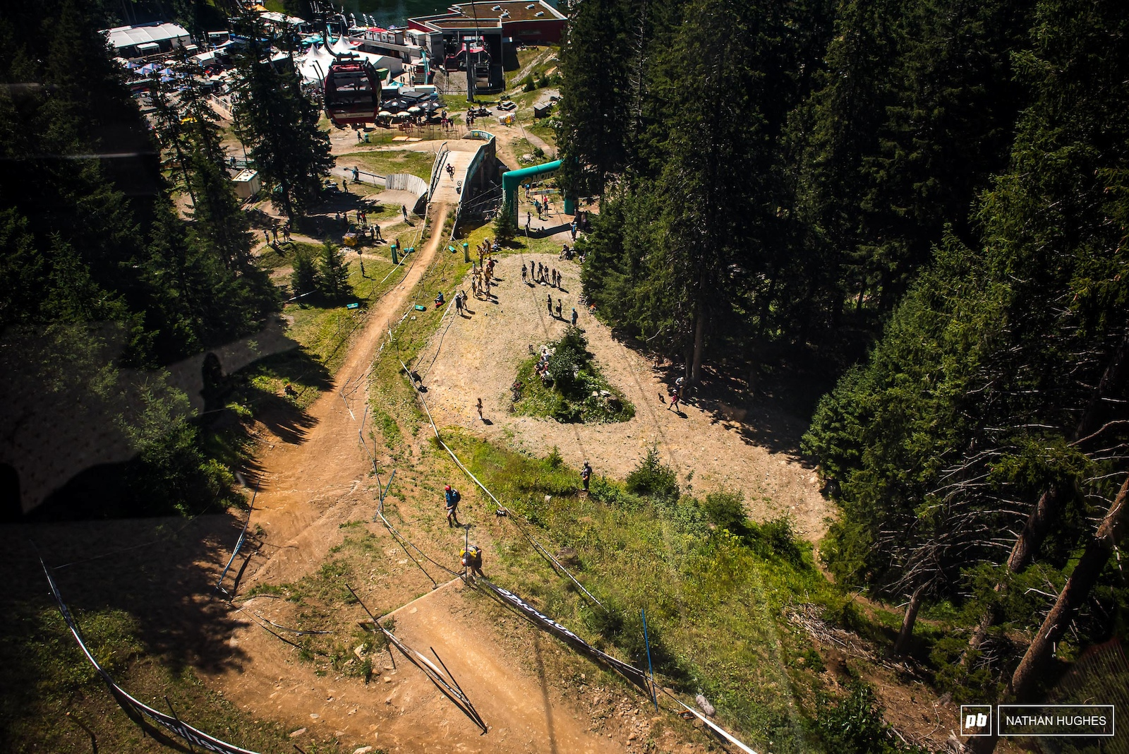 The only course on the circuit where you can descend on the lift in almost perfect sync with a rider below and watch pretty much the entire run.