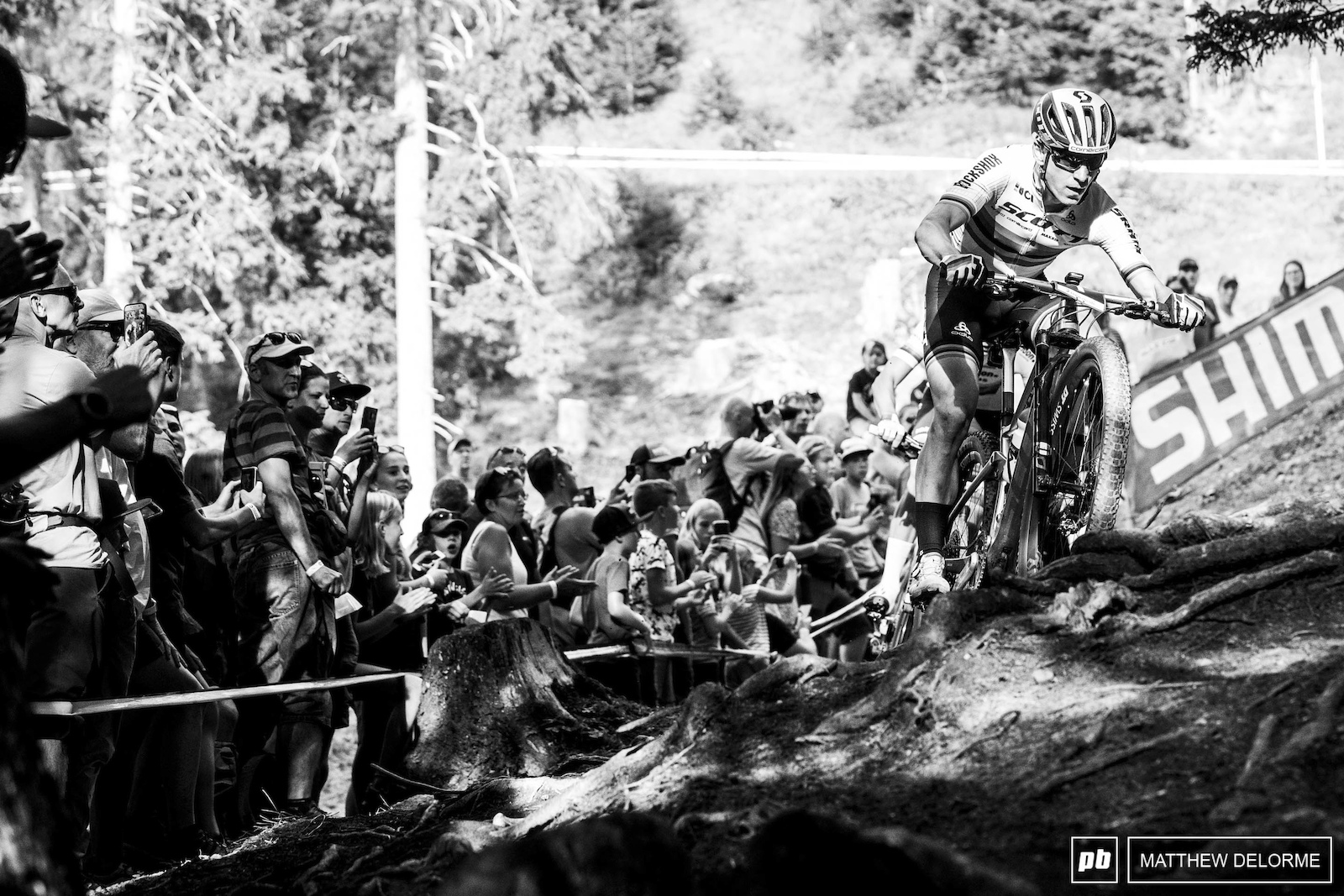 Nino Schurter had his moments at the front be he would have to settle for third.