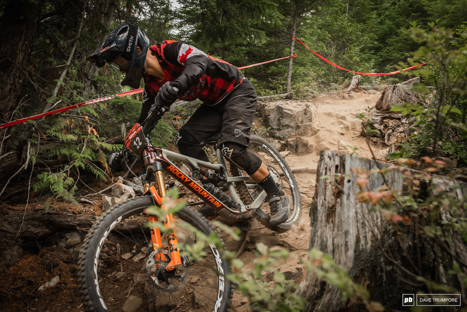 Newly crowned Canadian Enduro Champ Remi Gauvin on Stage 3